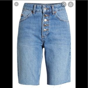 NWT Topshop Button Cycle Denim Shorts